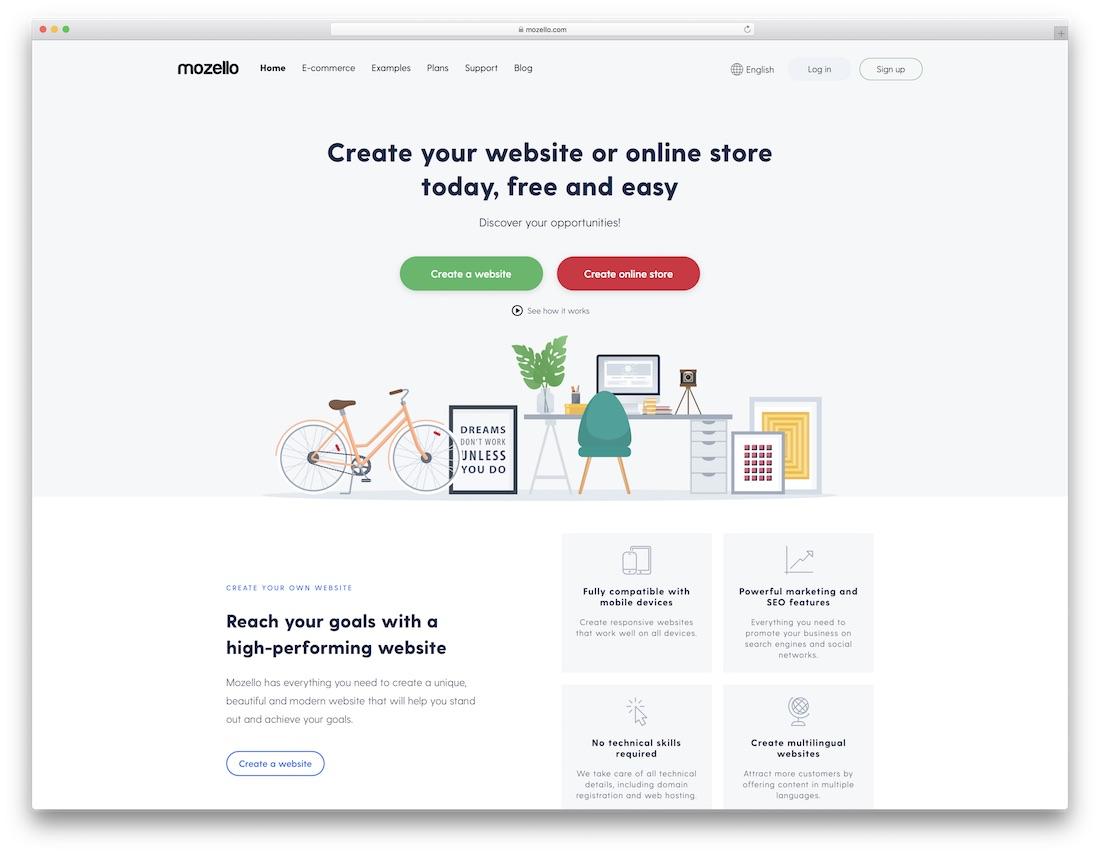 mozello website builder for fitness studio