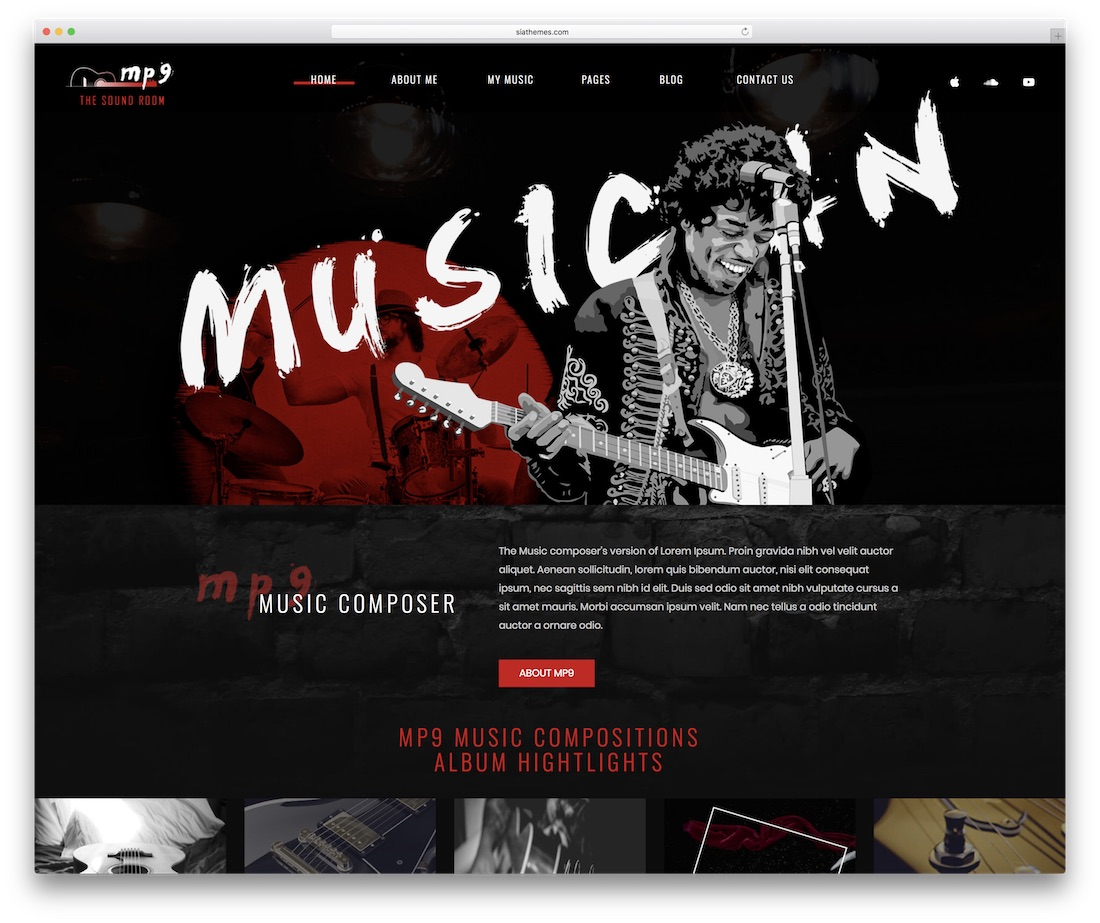 mp9 event website template