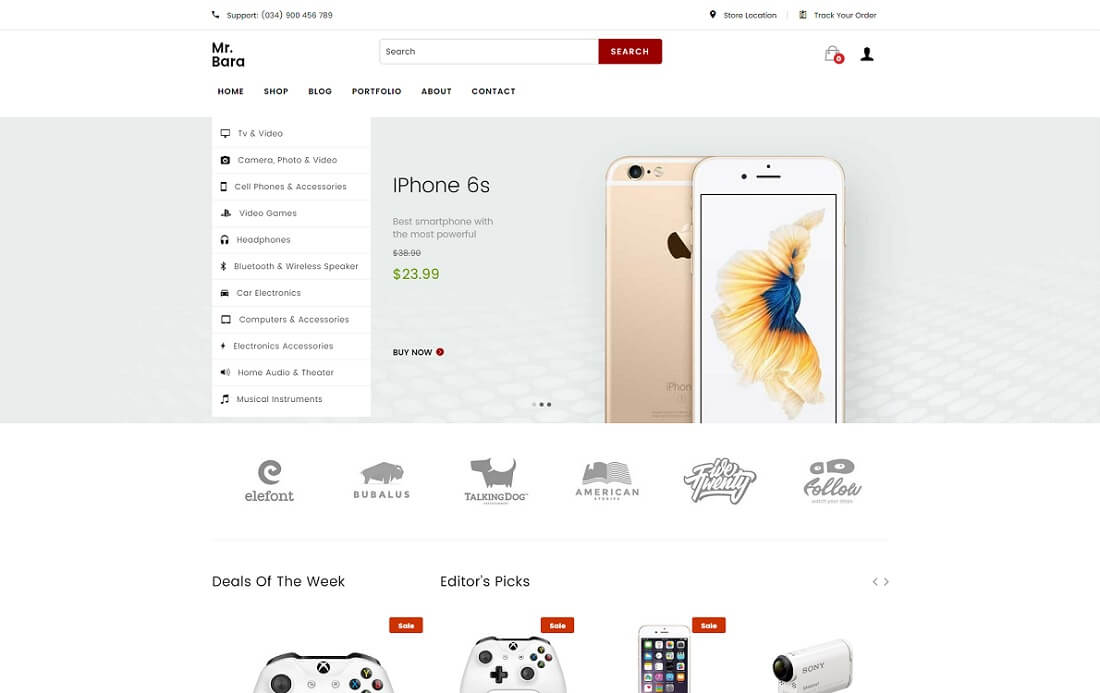 mr bara world shopify technology theme