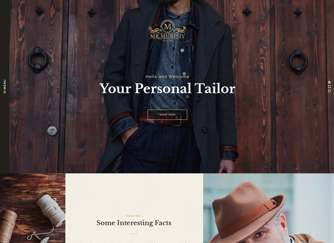 Mr. Murphy | Custom Tailoring WordPress Theme