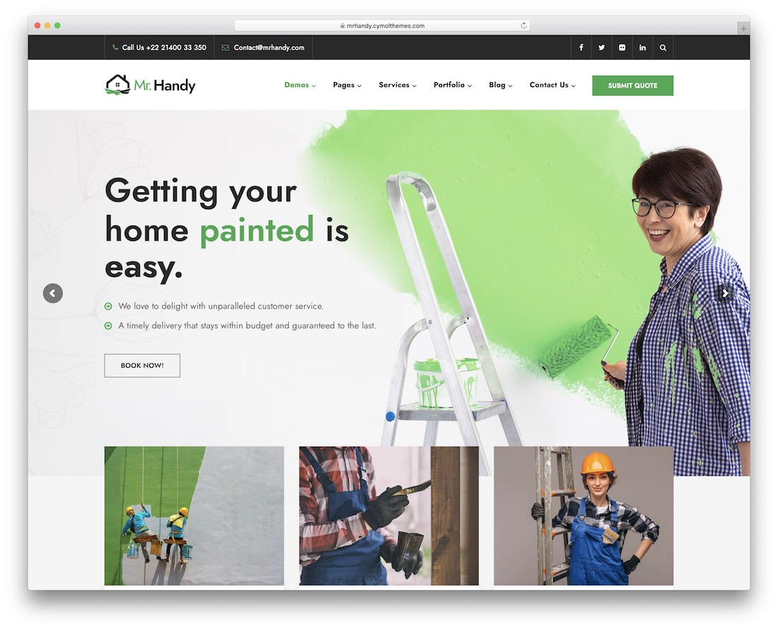 mrhandy wordpress theme for painters