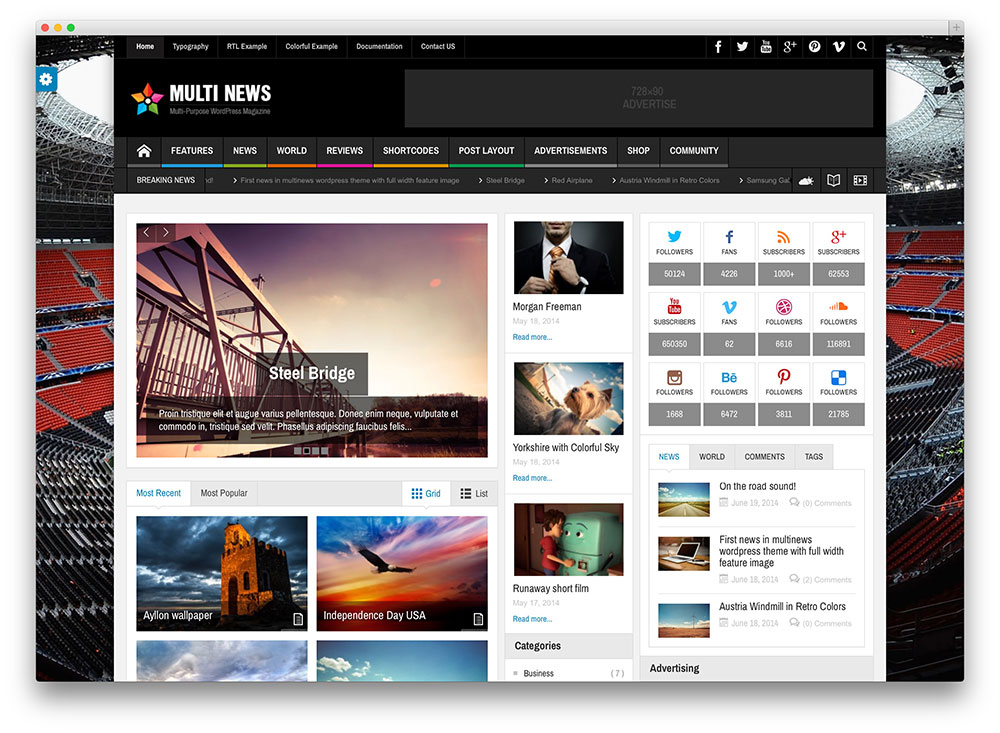 multinews - magazine style theme
