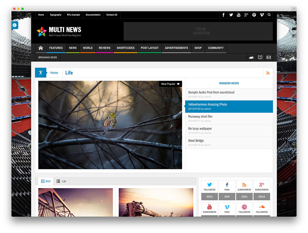 multinews magazine theme