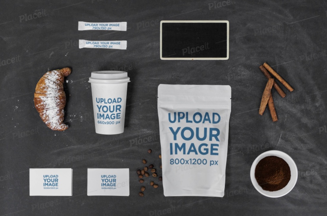 multiple product branding mockup