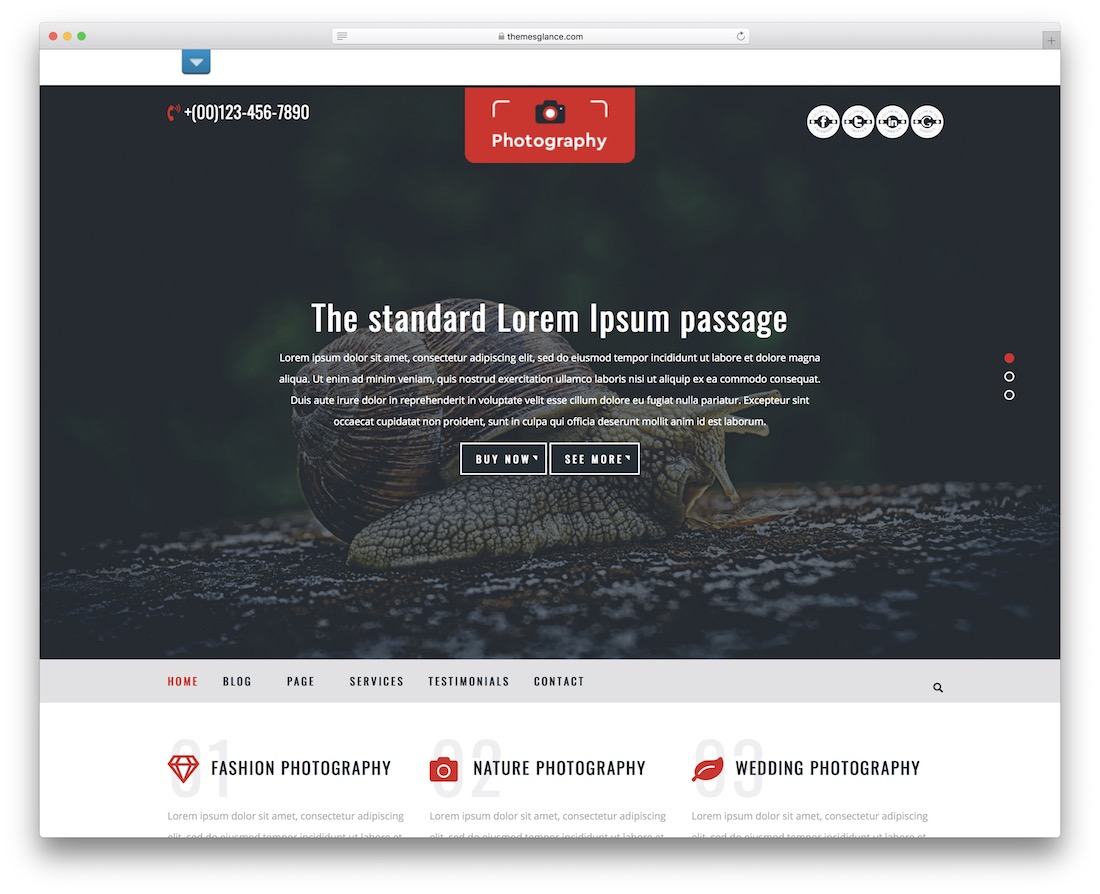 multipurpose photography free wordpress theme