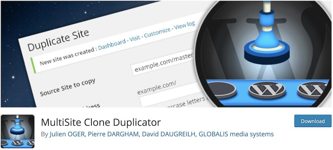multisite clone duplicator free wordpress plugin