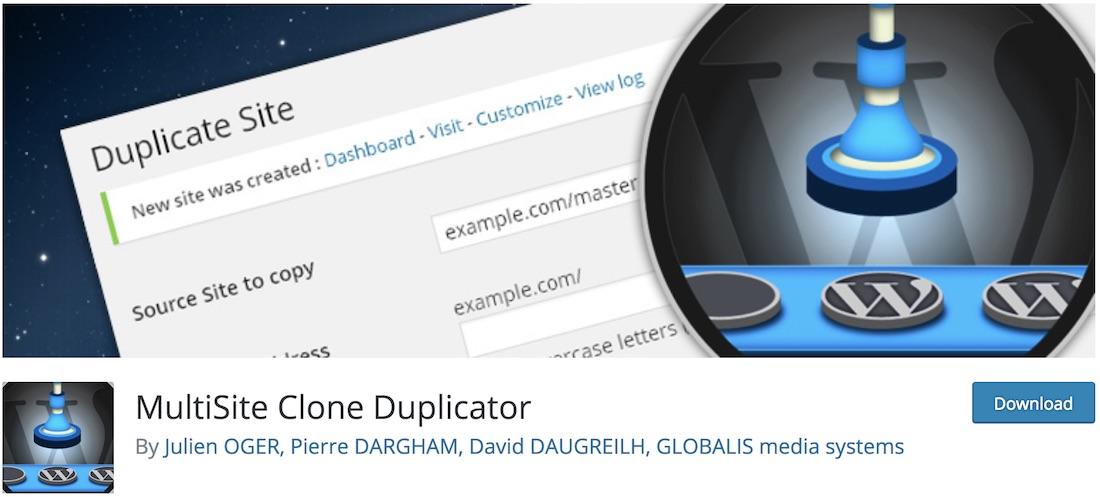 multisite clone duplicator
