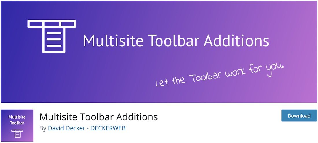 multisite toolbar additions free wordpress plugin