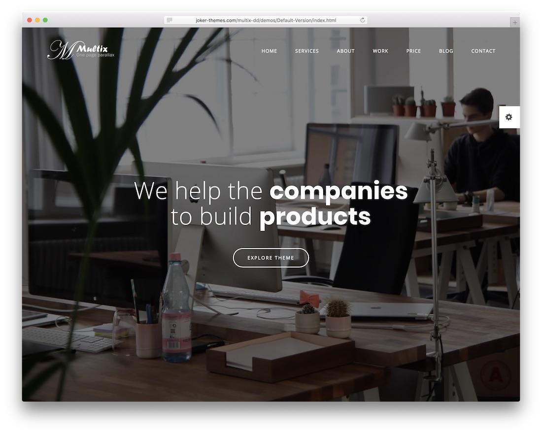 multix cheap website template