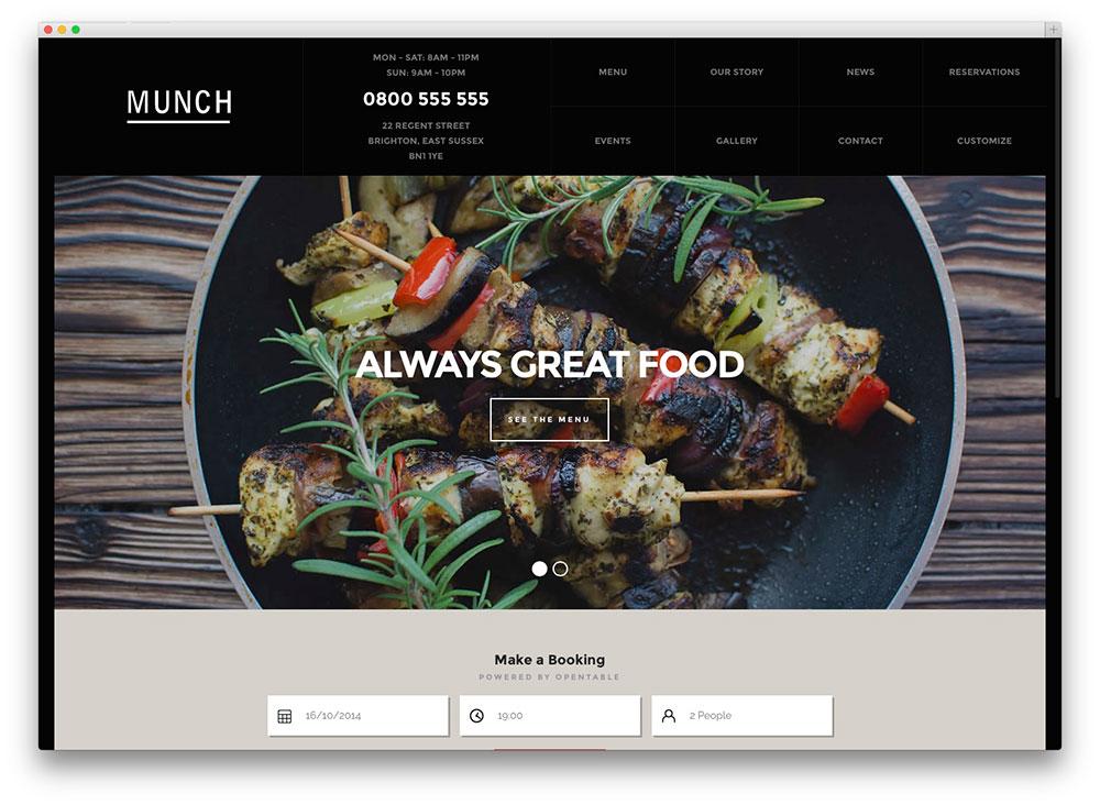 munch - restaurant theme