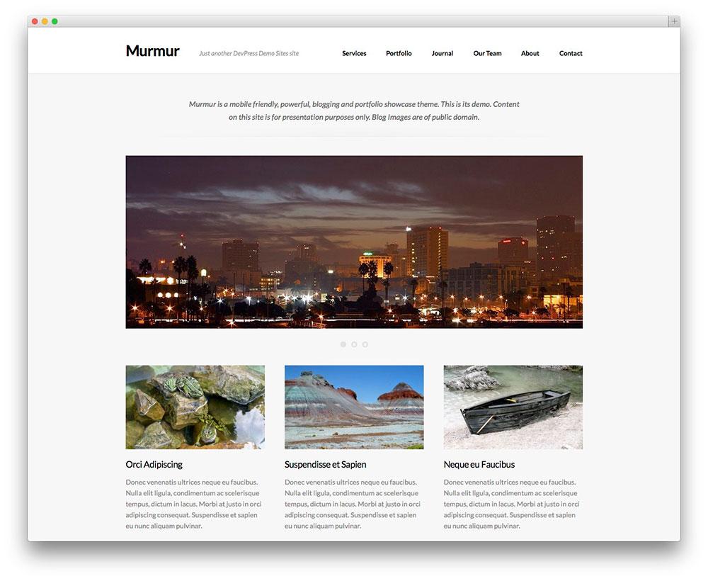 murmur - clean WP theme