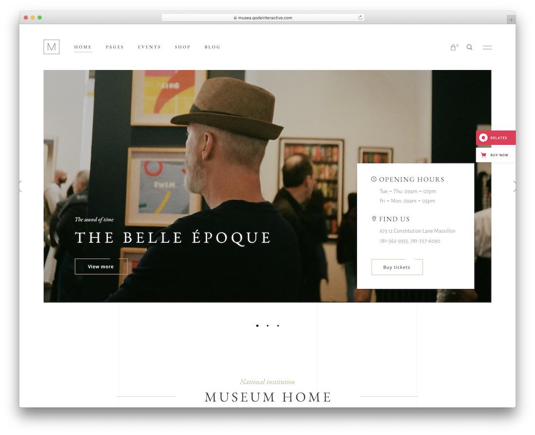 musea gallery website template