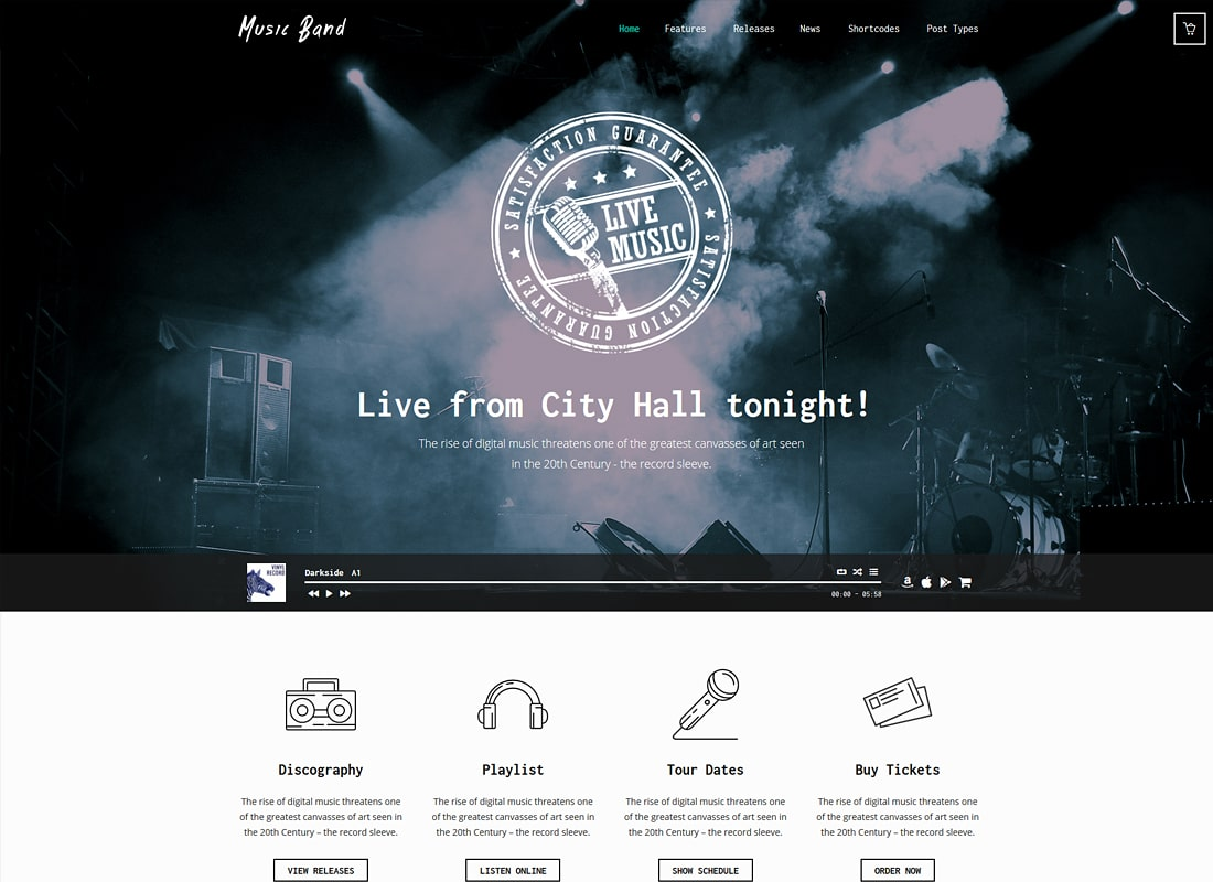 Music Band Live Event and Music Club WordPress Theme
