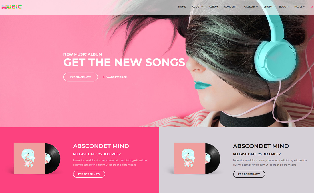 music-bootstrap-music-templates