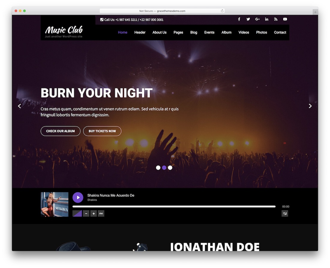 music club lite music club lite free band wordpress theme