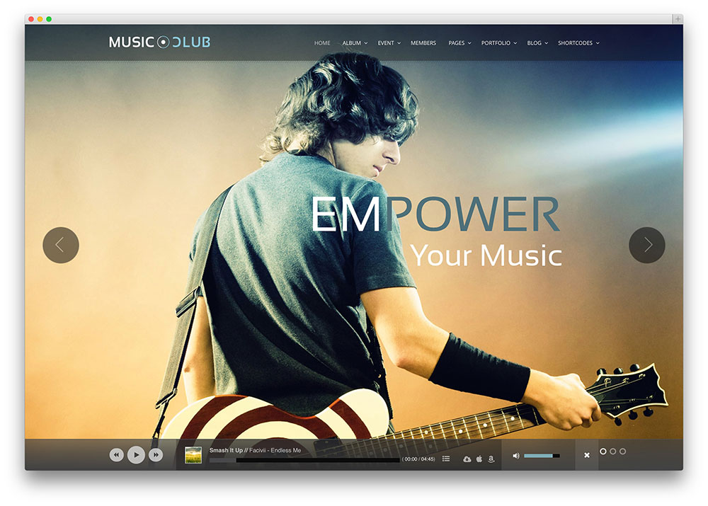 music club attractive wordpress music theme
