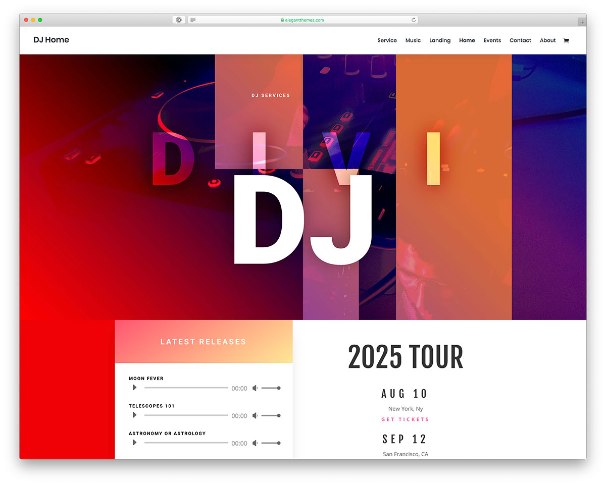 music events wordpress themes