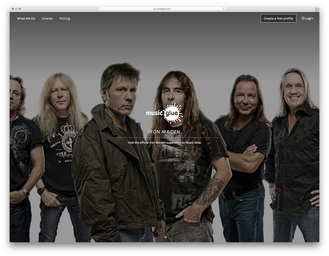 music glue musician website builder