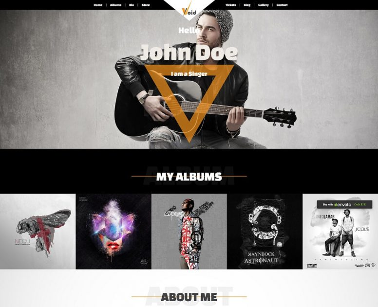 19 Musician Website Templates For Singers And Bands 2018