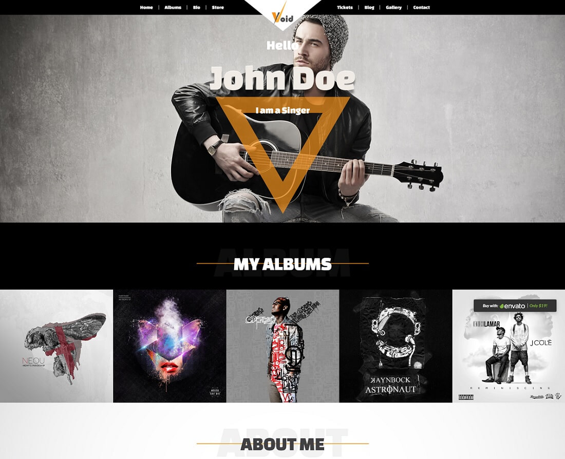 19 Musician Website Templates For Singers And Bands 2018 - Colorlib