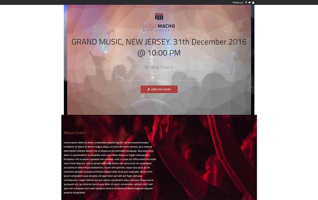 musicmacho free music website template