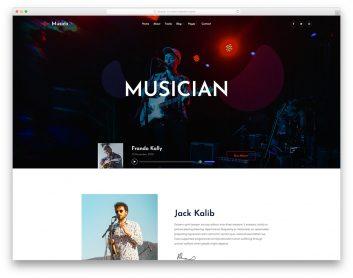 20 Free Music Website Templates 2019 Colorlib