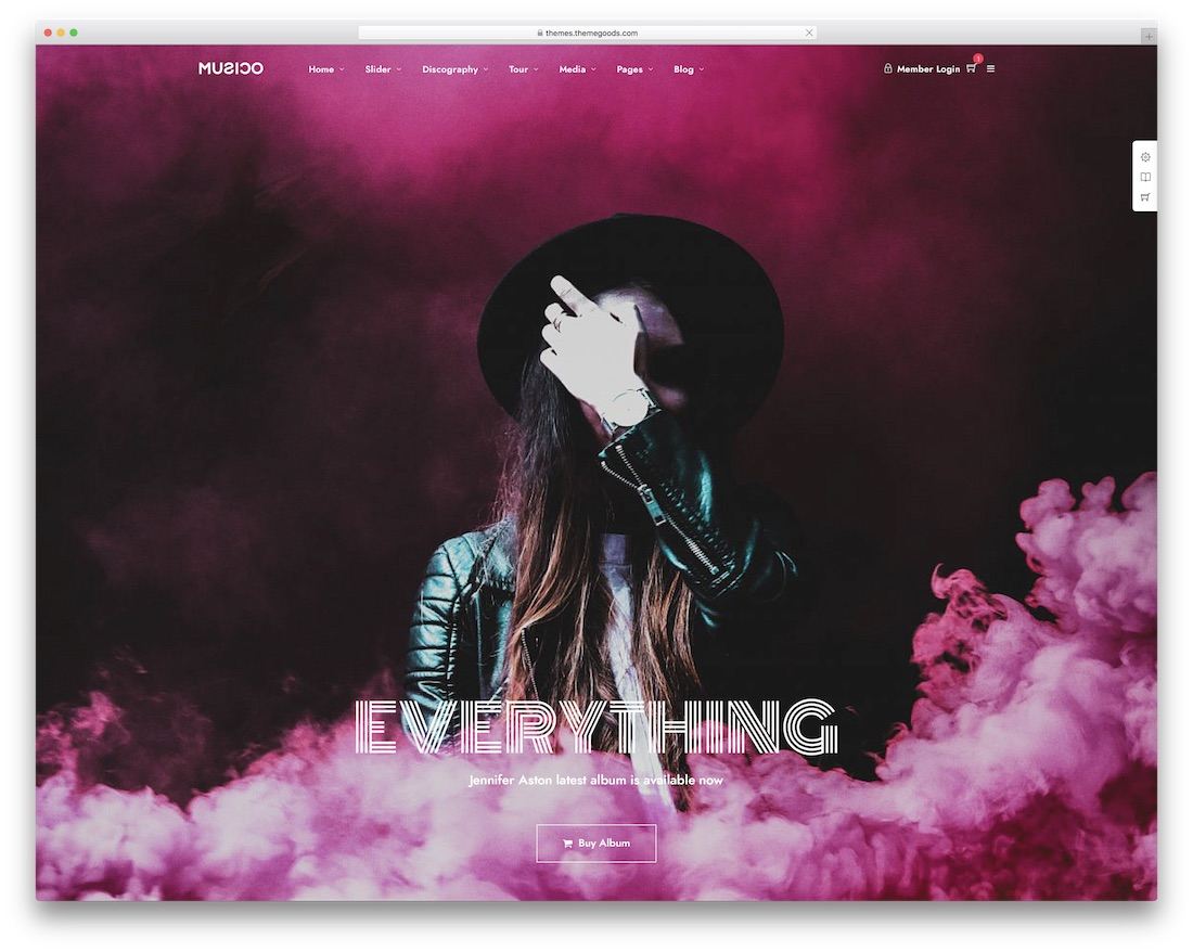 musico music wordpress theme