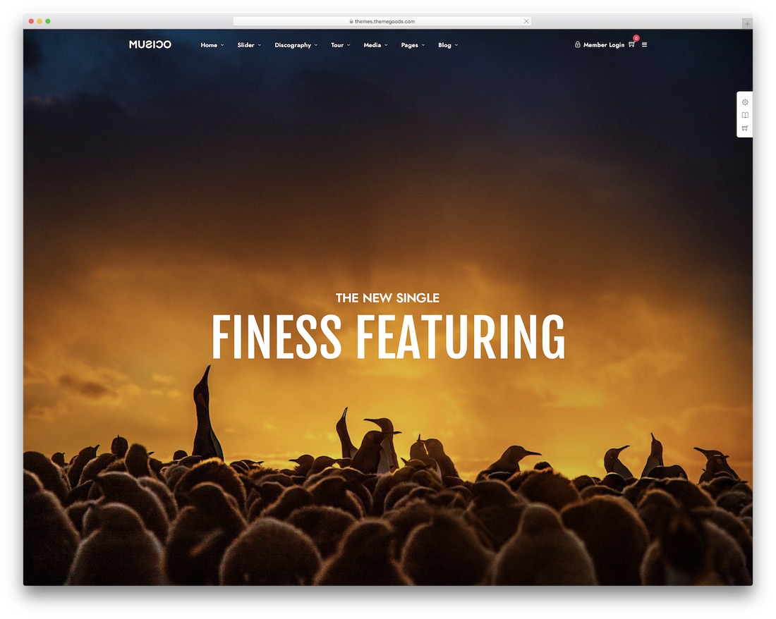 28 of the Best WordPress Themes for Musicians 2019 - Colorlib