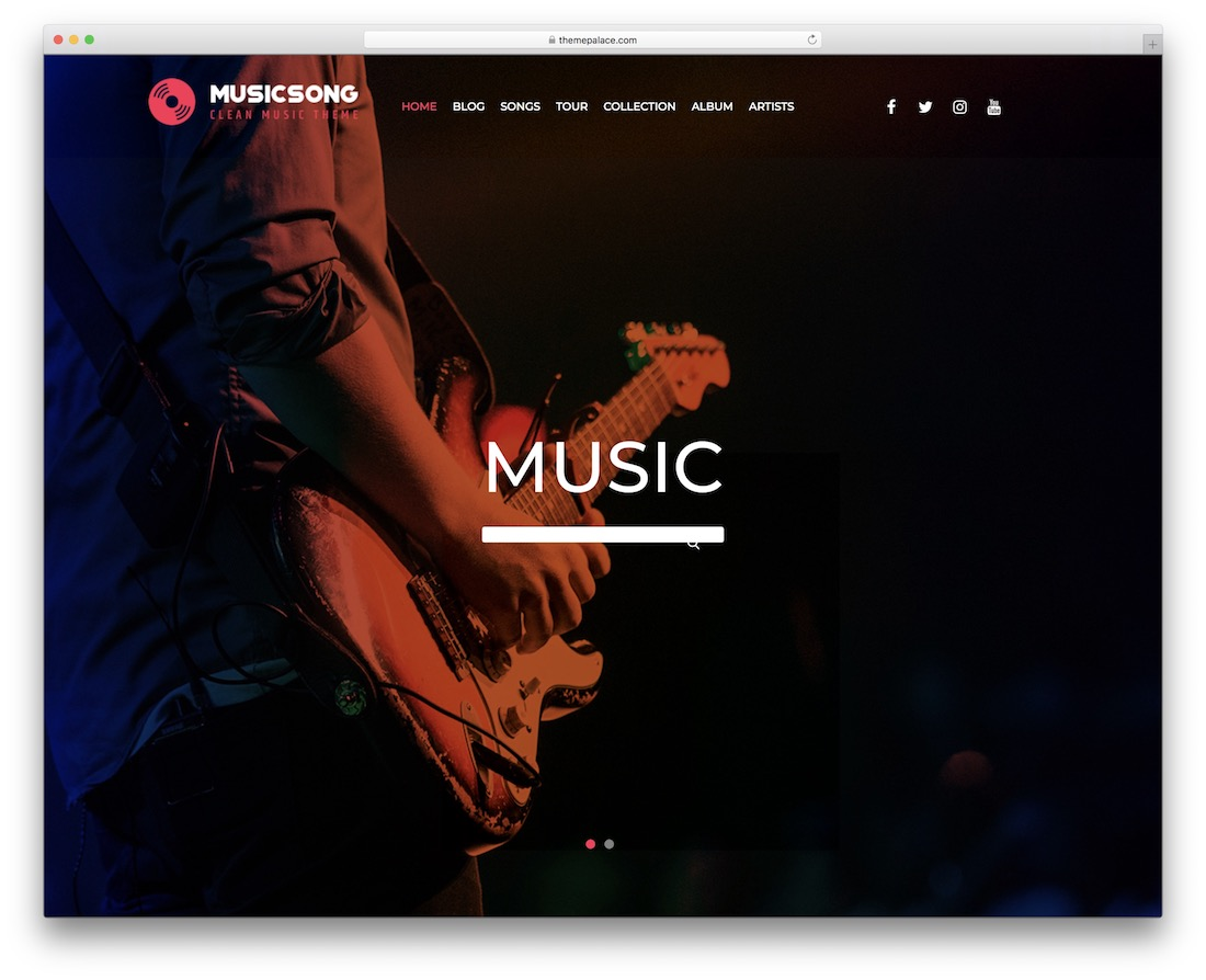 musicsong free band wordpress theme