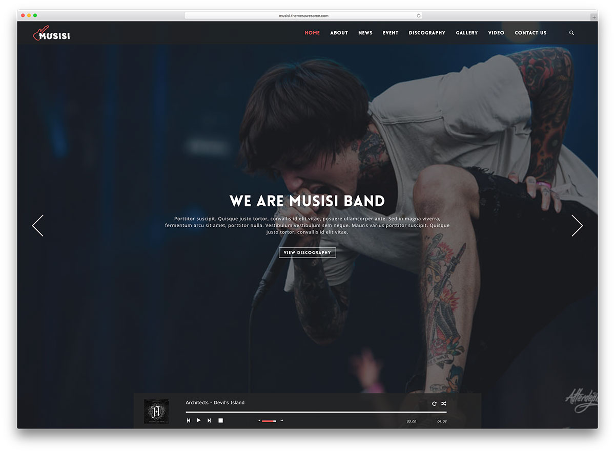 25 of the best wordpress themes for musicians 2018 colorlib musisi musician wordpress website template maxwellsz