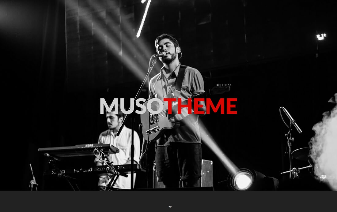 muso free music website template
