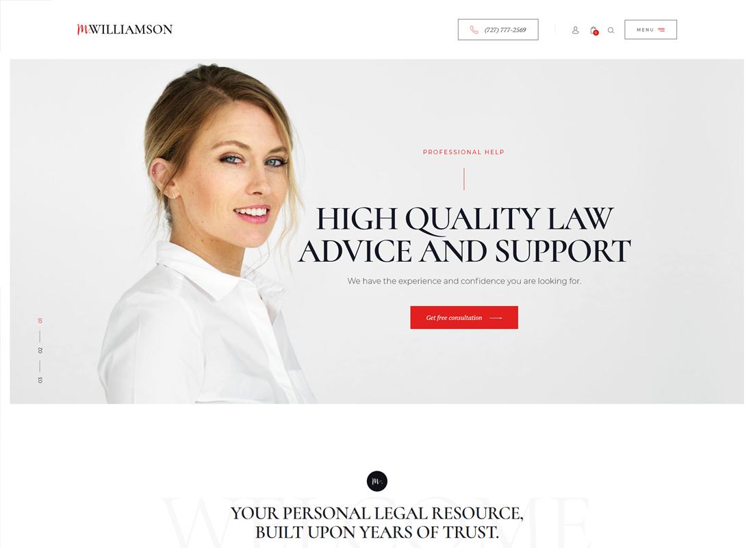 M.Williamson | Lawyer & Legal Adviser WordPress Theme