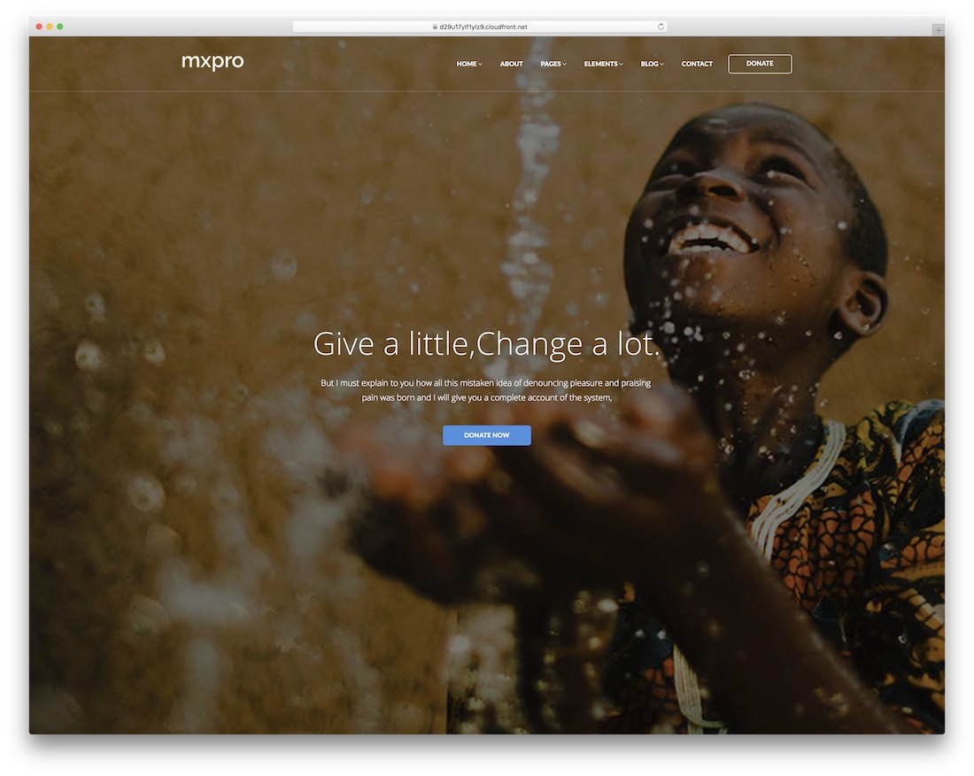 mxpro website template