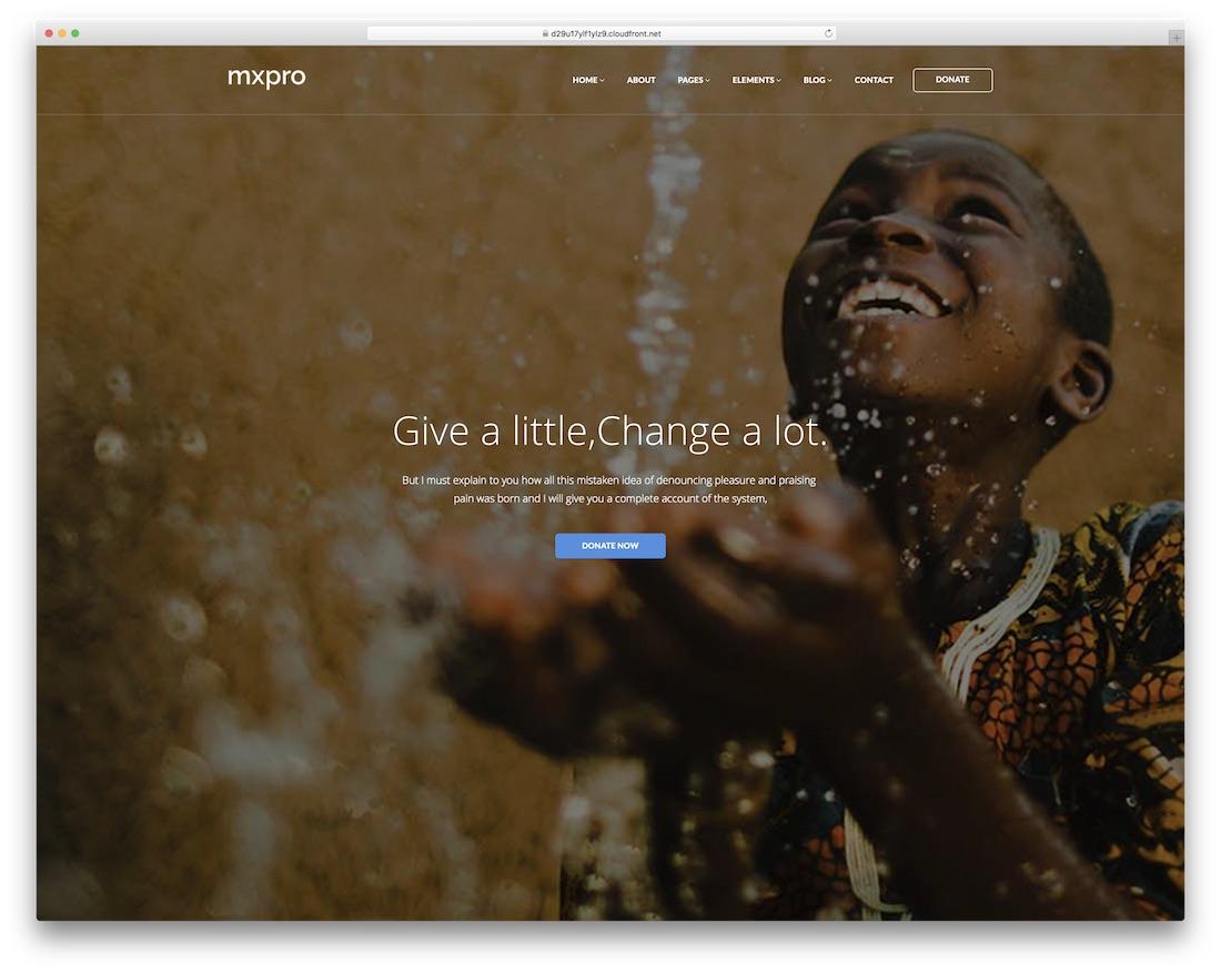 mxpro website template