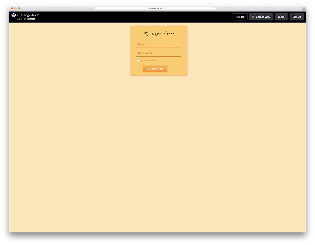 59 Free HTML5 And CSS3 Login Form For Your Website 2019