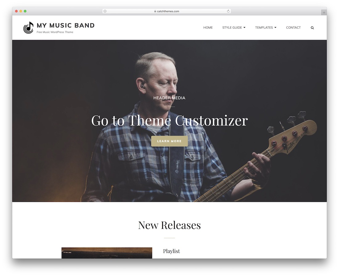 my music band free wordpress theme
