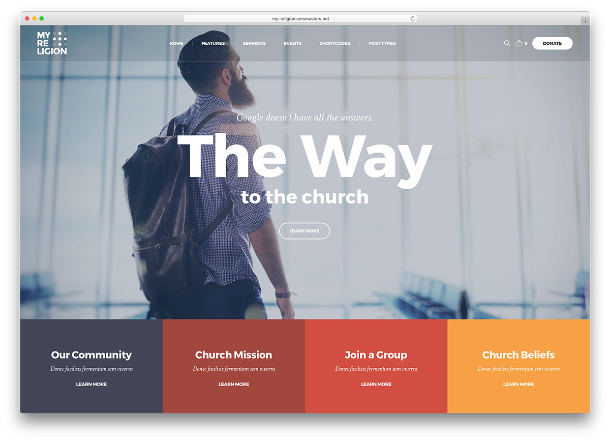 30+ Best WordPress Church Themes 2017 - colorlib