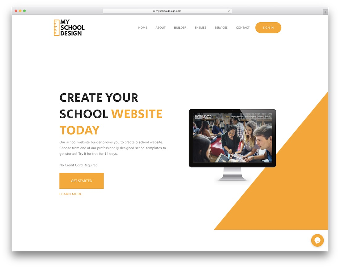 my school design education website builder