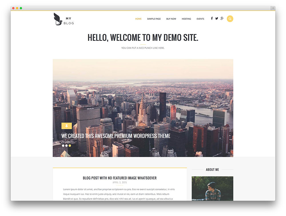 myblog - simple wordpress blog theme