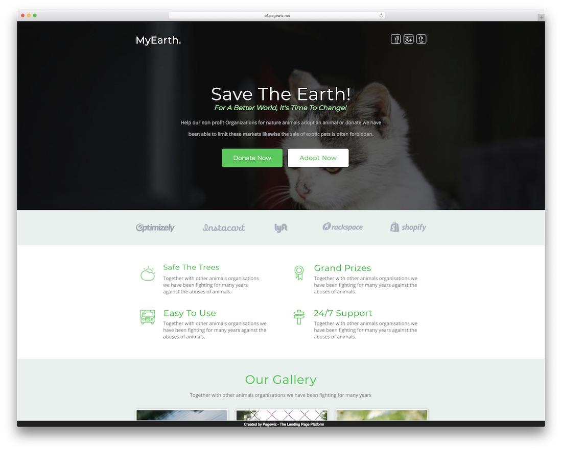 myearth pagewiz marketing template