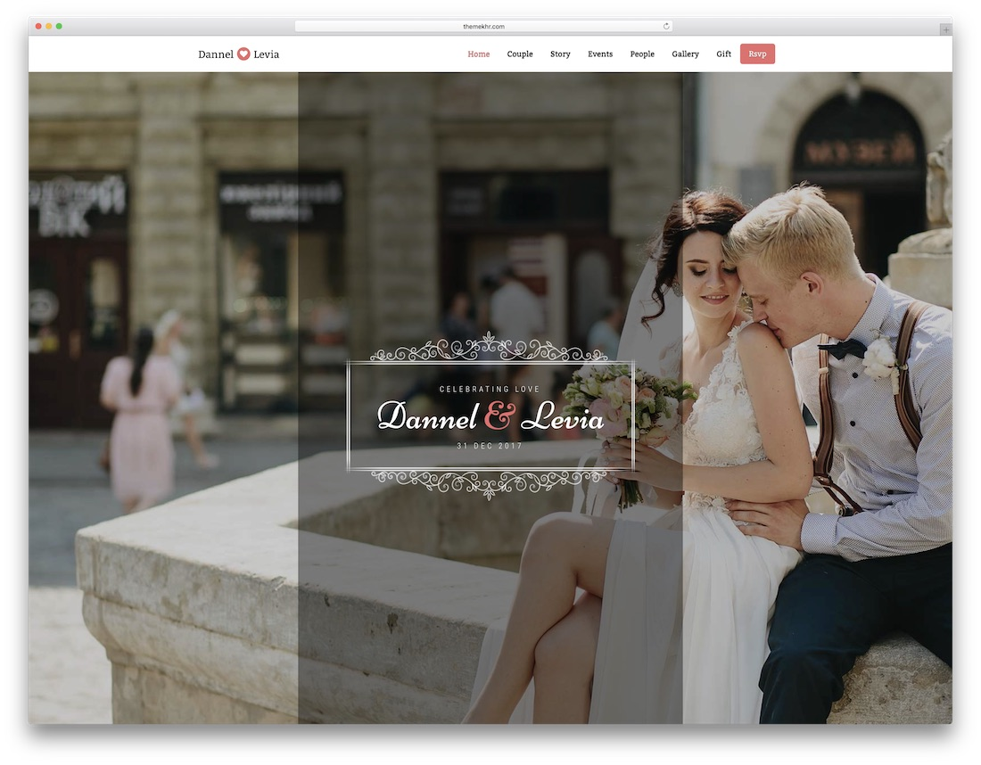 mylove html wedding website template