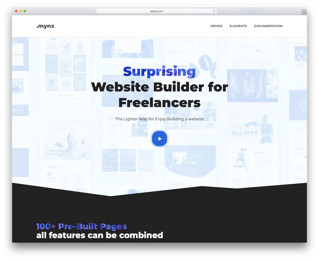 mynx page builder wordpress plugin