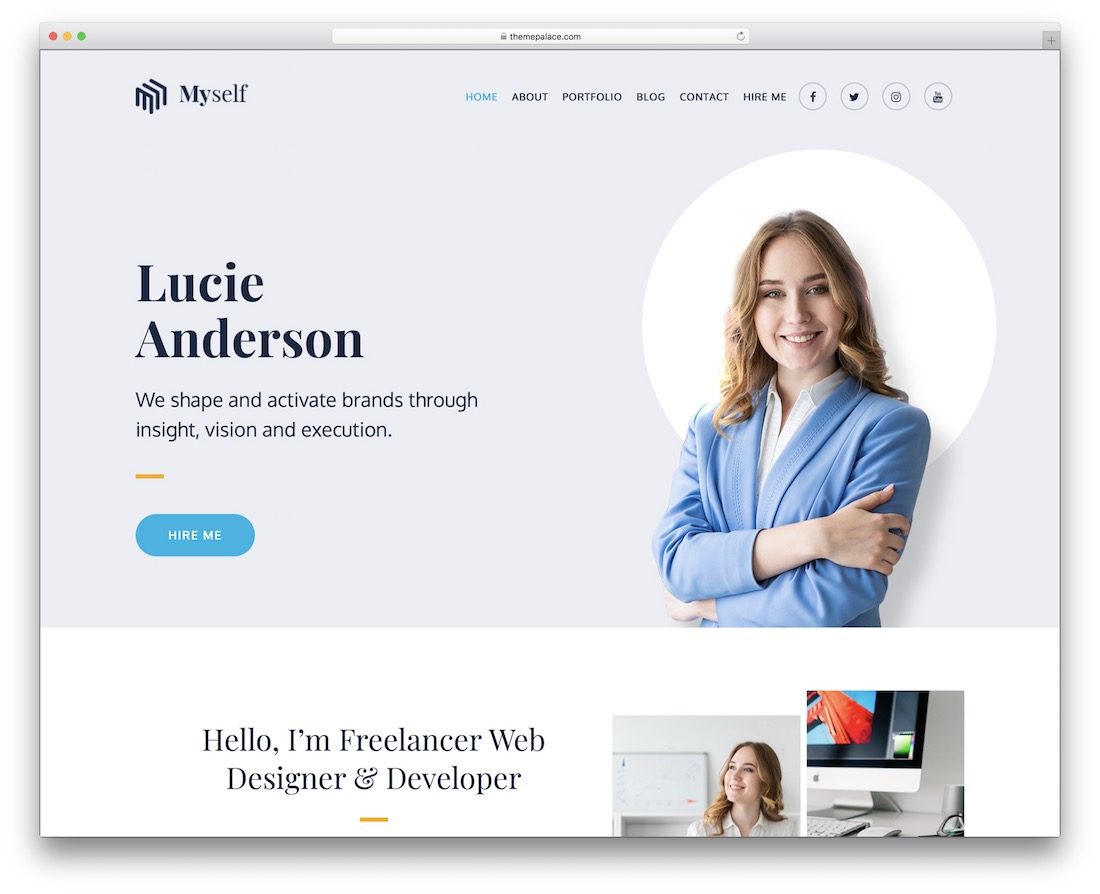 myself free wordpress theme