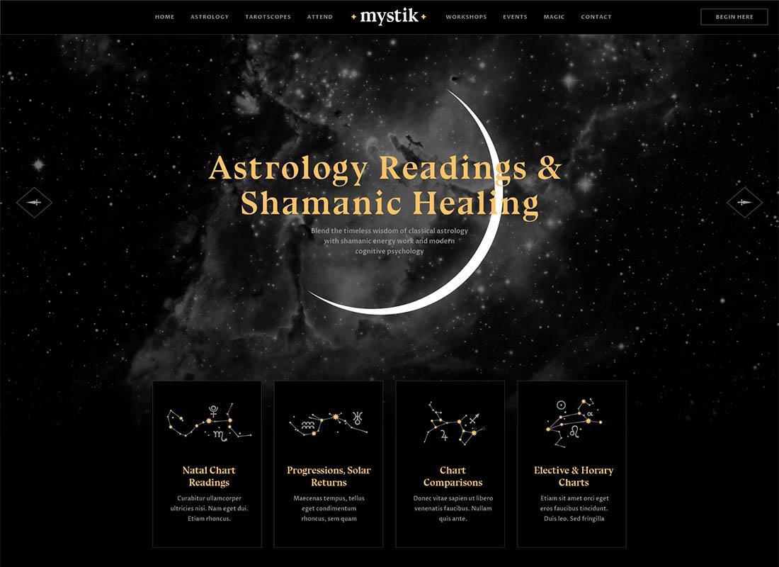 Mystik | Astrology & Esoteric Horoscope WordPress Theme