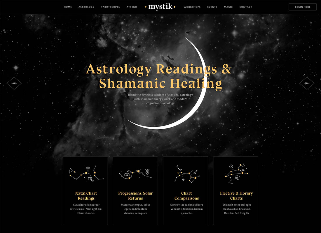 Mystik | Astrology & Esoteric Horoscope WordPress Theme