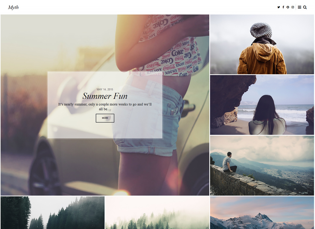 Myth - An Elegant Storytelling WordPress Blog Theme