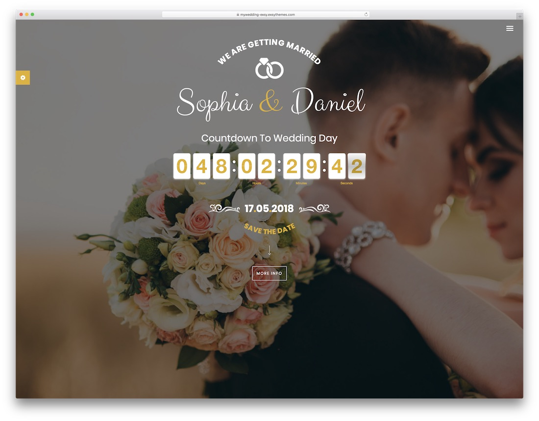 mywedding html wedding website template