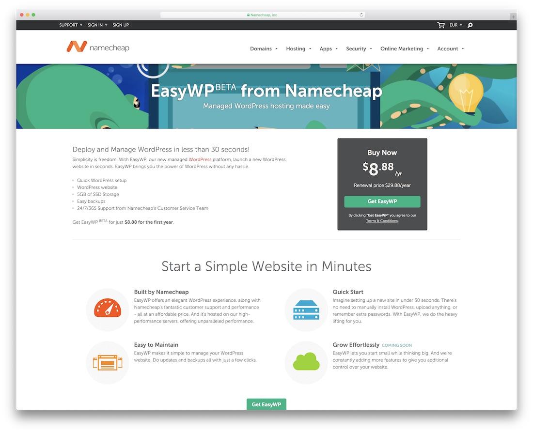namecheap cheap hosting for wordpress