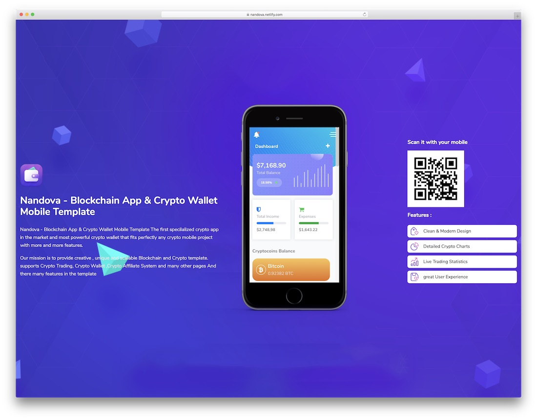 nandova cryptocurrency website template