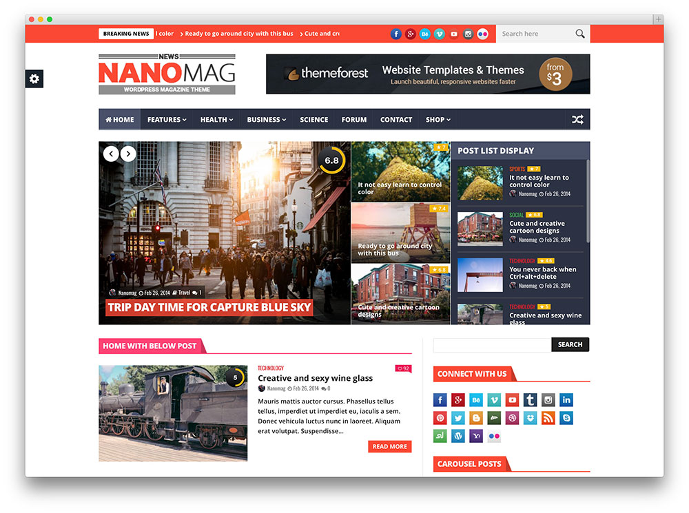 nanomag - classic review theme
